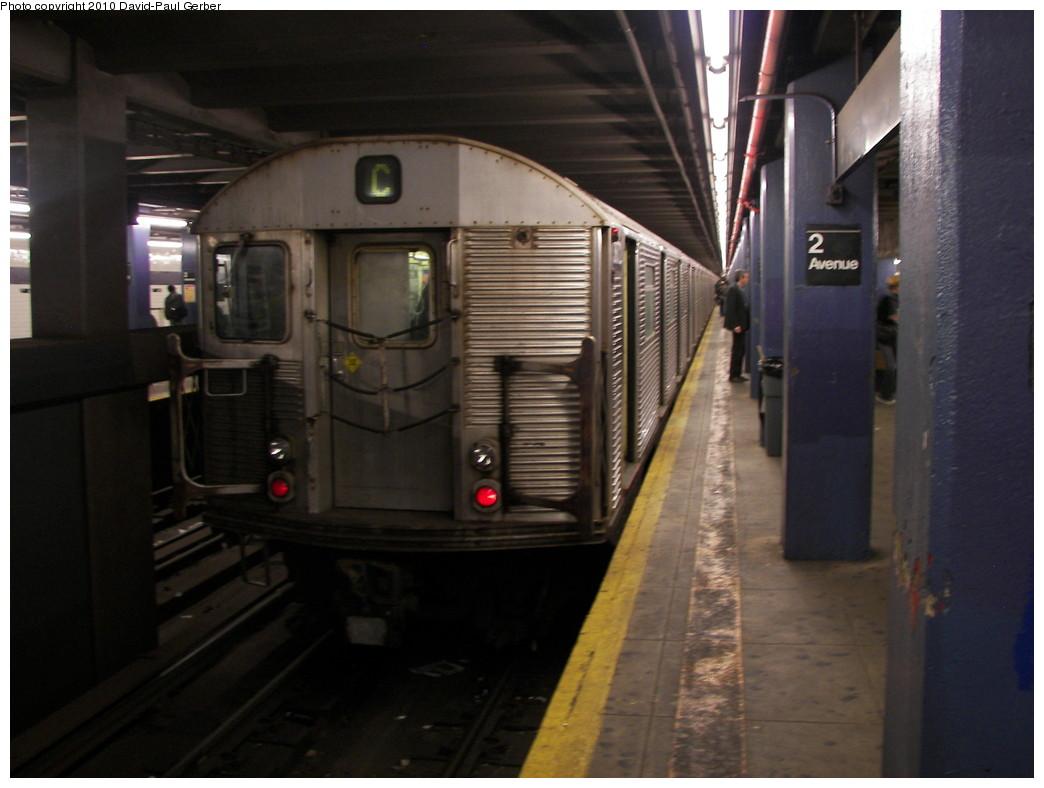 (223k, 1044x788)<br><b>Country:</b> United States<br><b>City:</b> New York<br><b>System:</b> New York City Transit<br><b>Line:</b> IND 6th Avenue Line<br><b>Location:</b> 2nd Avenue <br><b>Route:</b> C reroute<br><b>Car:</b> R-32 (Budd, 1964)  3872 <br><b>Photo by:</b> David-Paul Gerber<br><b>Date:</b> 4/17/2010<br><b>Viewed (this week/total):</b> 1 / 907