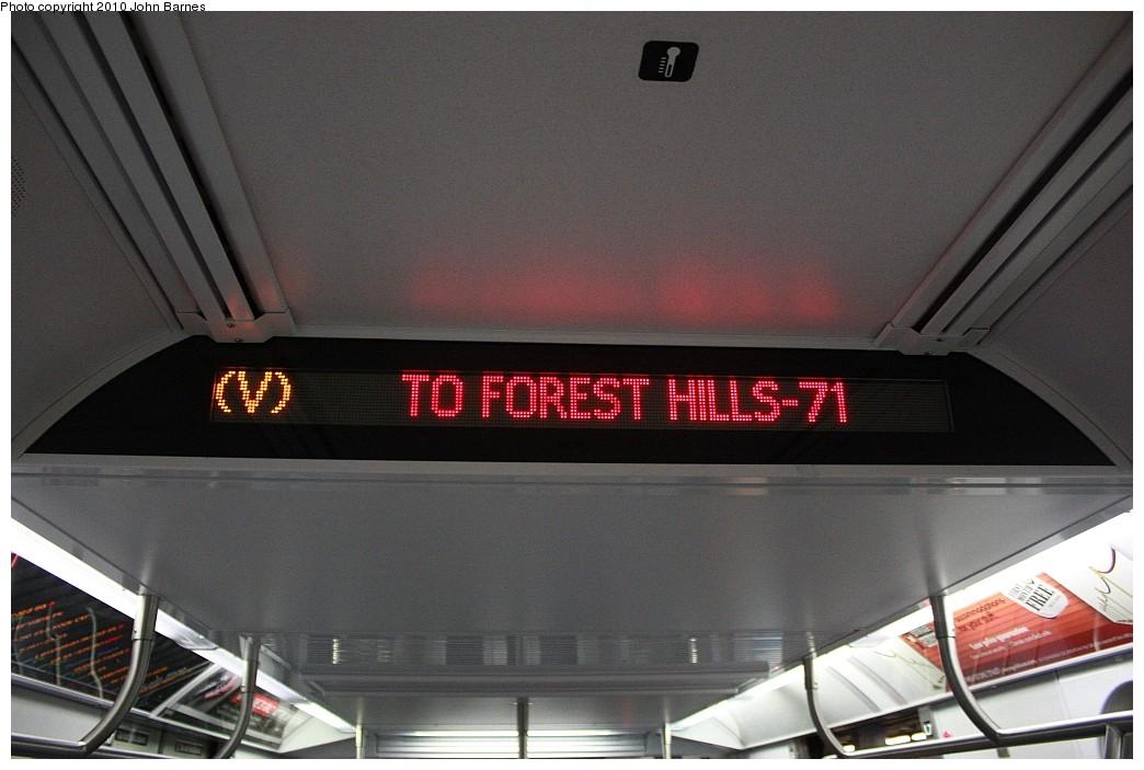 (174k, 1044x703)<br><b>Country:</b> United States<br><b>City:</b> New York<br><b>System:</b> New York City Transit<br><b>Line:</b> IND 6th Avenue Line<br><b>Location:</b> 2nd Avenue <br><b>Route:</b> V<br><b>Car:</b> R-160B (Option 2) (Kawasaki, 2009)  9868 <br><b>Photo by:</b> John Barnes<br><b>Date:</b> 6/25/2010<br><b>Notes:</b> V train final run.<br><b>Viewed (this week/total):</b> 3 / 1461