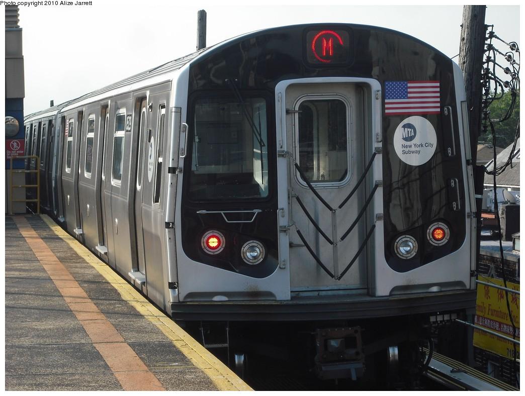 (206k, 1044x788)<br><b>Country:</b> United States<br><b>City:</b> New York<br><b>System:</b> New York City Transit<br><b>Line:</b> BMT West End Line<br><b>Location:</b> Bay Parkway <br><b>Route:</b> M<br><b>Car:</b> R-160A-1 (Alstom, 2005-2008, 4 car sets)  8529 <br><b>Photo by:</b> Alize Jarrett<br><b>Date:</b> 6/24/2010<br><b>Viewed (this week/total):</b> 0 / 947