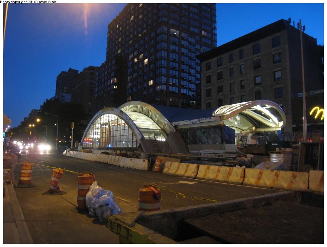 (207k, 1044x788)<br><b>Country:</b> United States<br><b>City:</b> New York<br><b>System:</b> New York City Transit<br><b>Line:</b> IRT West Side Line<br><b>Location:</b> 96th Street <br><b>Photo by:</b> David Blair<br><b>Date:</b> 5/30/2010<br><b>Notes:</b> Night view of new headhouse.<br><b>Viewed (this week/total):</b> 0 / 1024