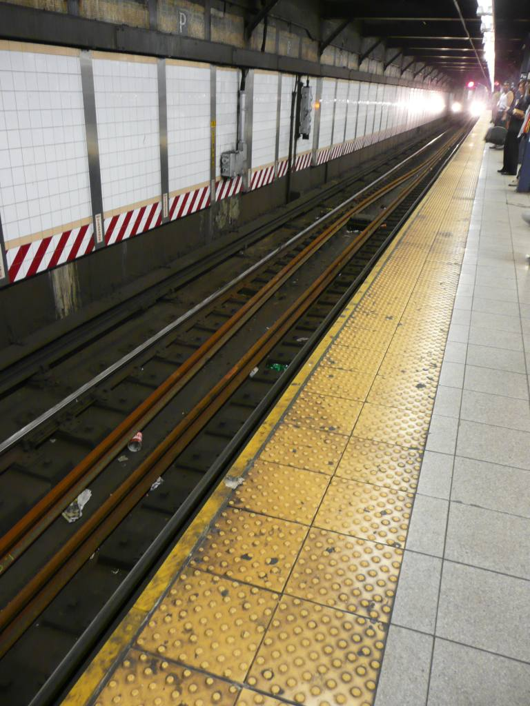 (124k, 768x1024)<br><b>Country:</b> United States<br><b>City:</b> New York<br><b>System:</b> New York City Transit<br><b>Line:</b> IRT West Side Line<br><b>Location:</b> Park Place <br><b>Photo by:</b> Robbie Rosenfeld<br><b>Date:</b> 5/5/2010<br><b>Notes:</b> New rails awaiting installation.<br><b>Viewed (this week/total):</b> 0 / 1575