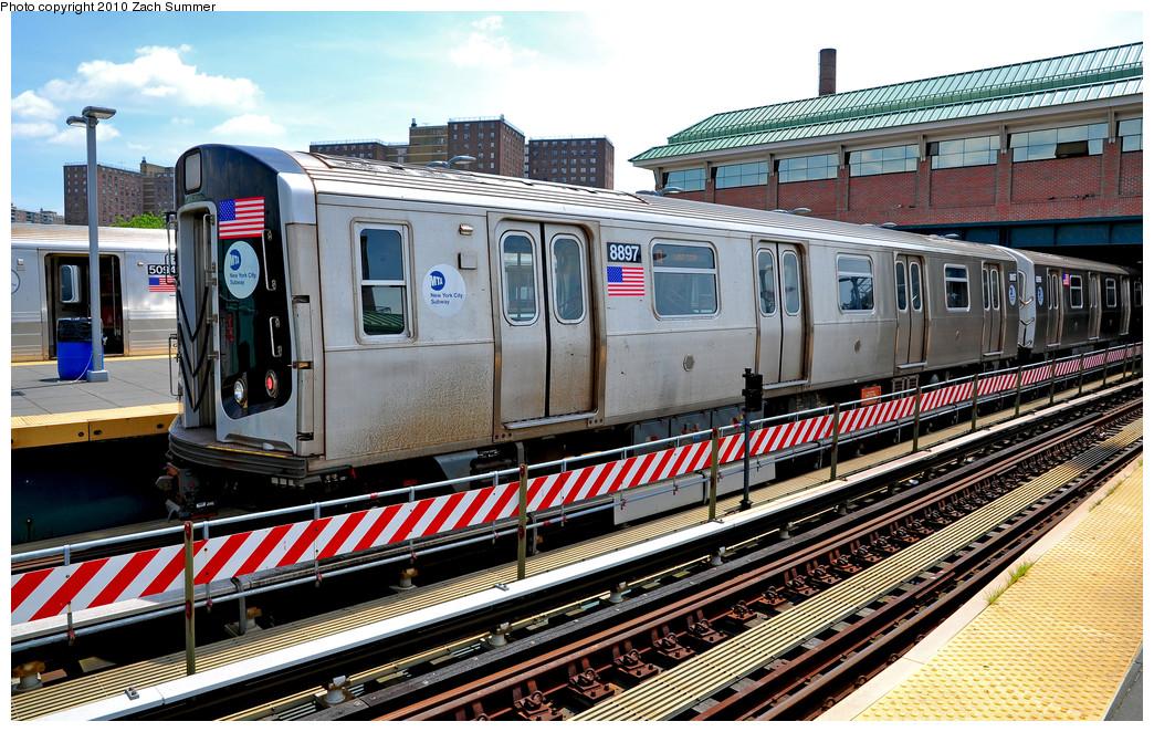 (350k, 1044x662)<br><b>Country:</b> United States<br><b>City:</b> New York<br><b>System:</b> New York City Transit<br><b>Location:</b> Coney Island/Stillwell Avenue<br><b>Route:</b> Q<br><b>Car:</b> R-160B (Kawasaki, 2005-2008)  8897 <br><b>Photo by:</b> Zach Summer<br><b>Date:</b> 6/23/2010<br><b>Viewed (this week/total):</b> 0 / 1166