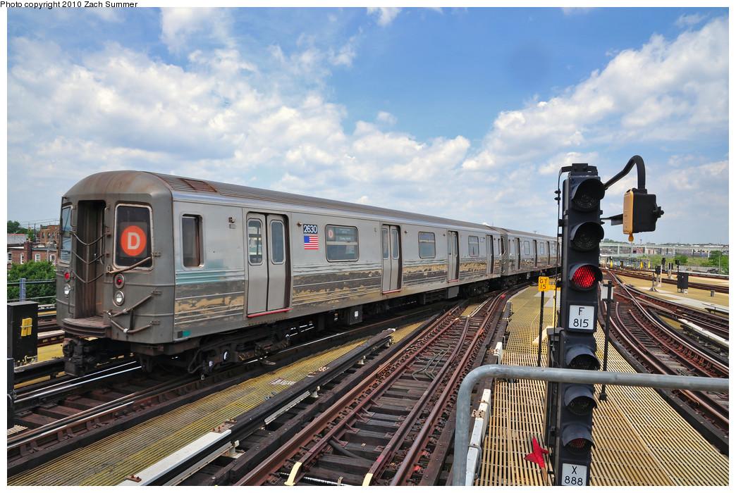 (302k, 1044x700)<br><b>Country:</b> United States<br><b>City:</b> New York<br><b>System:</b> New York City Transit<br><b>Location:</b> Coney Island/Stillwell Avenue<br><b>Route:</b> D<br><b>Car:</b> R-68 (Westinghouse-Amrail, 1986-1988)  2630 <br><b>Photo by:</b> Zach Summer<br><b>Date:</b> 6/23/2010<br><b>Viewed (this week/total):</b> 0 / 1387