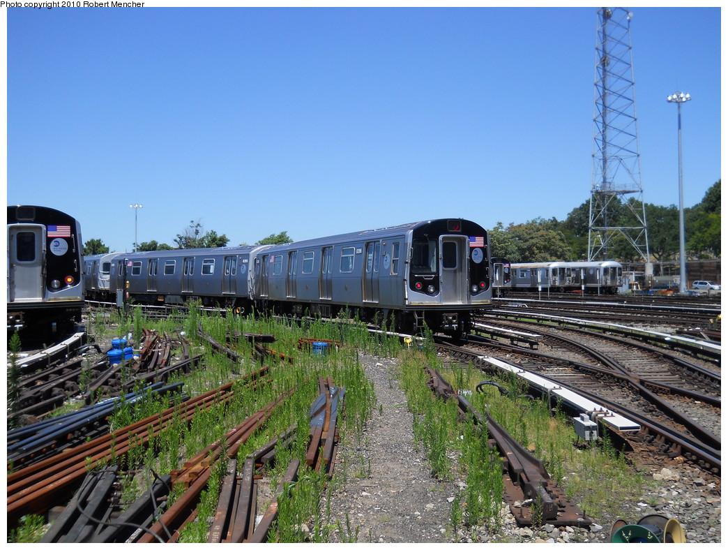 (337k, 1044x788)<br><b>Country:</b> United States<br><b>City:</b> New York<br><b>System:</b> New York City Transit<br><b>Location:</b> East New York Yard/Shops<br><b>Car:</b> R-160A-1 (Alstom, 2005-2008, 4 car sets)  8396 <br><b>Photo by:</b> Robert Mencher<br><b>Date:</b> 7/3/2010<br><b>Viewed (this week/total):</b> 0 / 935