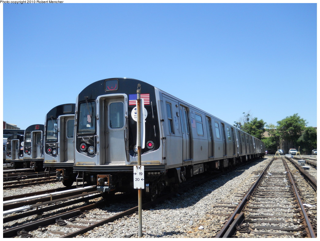 (285k, 1044x788)<br><b>Country:</b> United States<br><b>City:</b> New York<br><b>System:</b> New York City Transit<br><b>Location:</b> East New York Yard/Shops<br><b>Car:</b> R-160A-1 (Alstom, 2005-2008, 4 car sets)  8352 <br><b>Photo by:</b> Robert Mencher<br><b>Date:</b> 7/3/2010<br><b>Viewed (this week/total):</b> 3 / 705