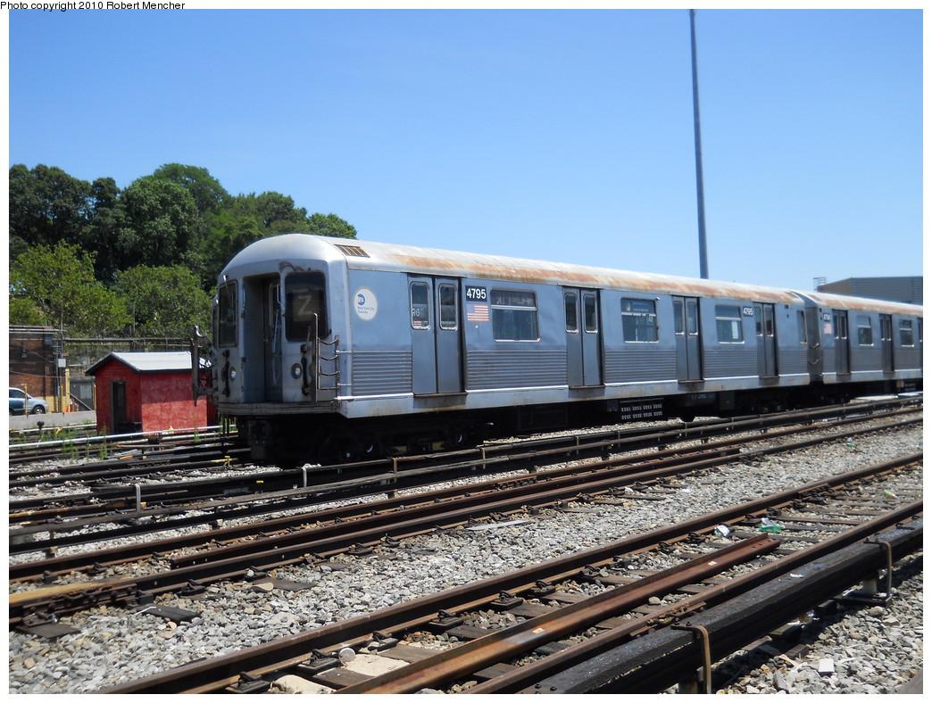 (319k, 1044x788)<br><b>Country:</b> United States<br><b>City:</b> New York<br><b>System:</b> New York City Transit<br><b>Location:</b> East New York Yard/Shops<br><b>Car:</b> R-42 (St. Louis, 1969-1970)  4795 <br><b>Photo by:</b> Robert Mencher<br><b>Date:</b> 7/3/2010<br><b>Viewed (this week/total):</b> 0 / 648