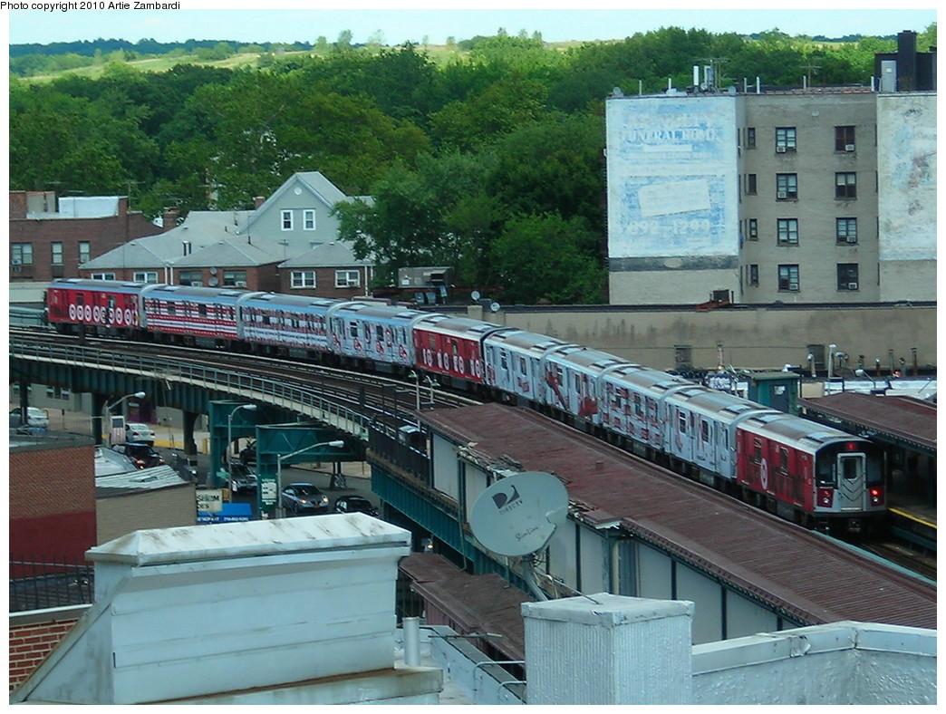 (295k, 1044x788)<br><b>Country:</b> United States<br><b>City:</b> New York<br><b>System:</b> New York City Transit<br><b>Line:</b> IRT Pelham Line<br><b>Location:</b> Buhre Avenue <br><b>Route:</b> 6<br><b>Car:</b> R-142A (Option Order, Kawasaki, 2002-2003)  7641 <br><b>Photo by:</b> Artie Zambardi<br><b>Date:</b> 7/2/2010<br><b>Notes:</b> Target ad wrap.<br><b>Viewed (this week/total):</b> 0 / 1951
