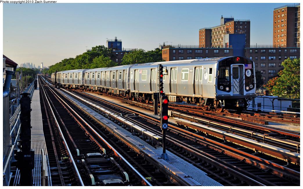 (332k, 1044x653)<br><b>Country:</b> United States<br><b>City:</b> New York<br><b>System:</b> New York City Transit<br><b>Line:</b> BMT West End Line<br><b>Location:</b> Bay 50th Street <br><b>Route:</b> M yard move<br><b>Car:</b> R-160A-1 (Alstom, 2005-2008, 4 car sets)  8600 <br><b>Photo by:</b> Zach Summer<br><b>Date:</b> 6/24/2010<br><b>Viewed (this week/total):</b> 0 / 1408
