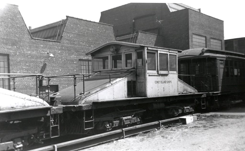 (146k, 1024x632)<br><b>Country:</b> United States<br><b>City:</b> New York<br><b>System:</b> New York City Transit<br><b>Location:</b> Coney Island Yard<br><b>Car:</b> SBK Steeplecab 1 <br><b>Collection of:</b> George Conrad Collection<br><b>Viewed (this week/total):</b> 3 / 839