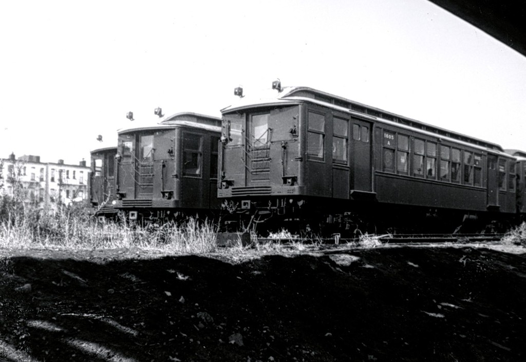 (130k, 1024x705)<br><b>Country:</b> United States<br><b>City:</b> New York<br><b>System:</b> New York City Transit<br><b>Location:</b> Fresh Pond Yard<br><b>Car:</b> BMT Q 1605 <br><b>Collection of:</b> George Conrad Collection<br><b>Date:</b> 9/14/1958<br><b>Viewed (this week/total):</b> 3 / 1732