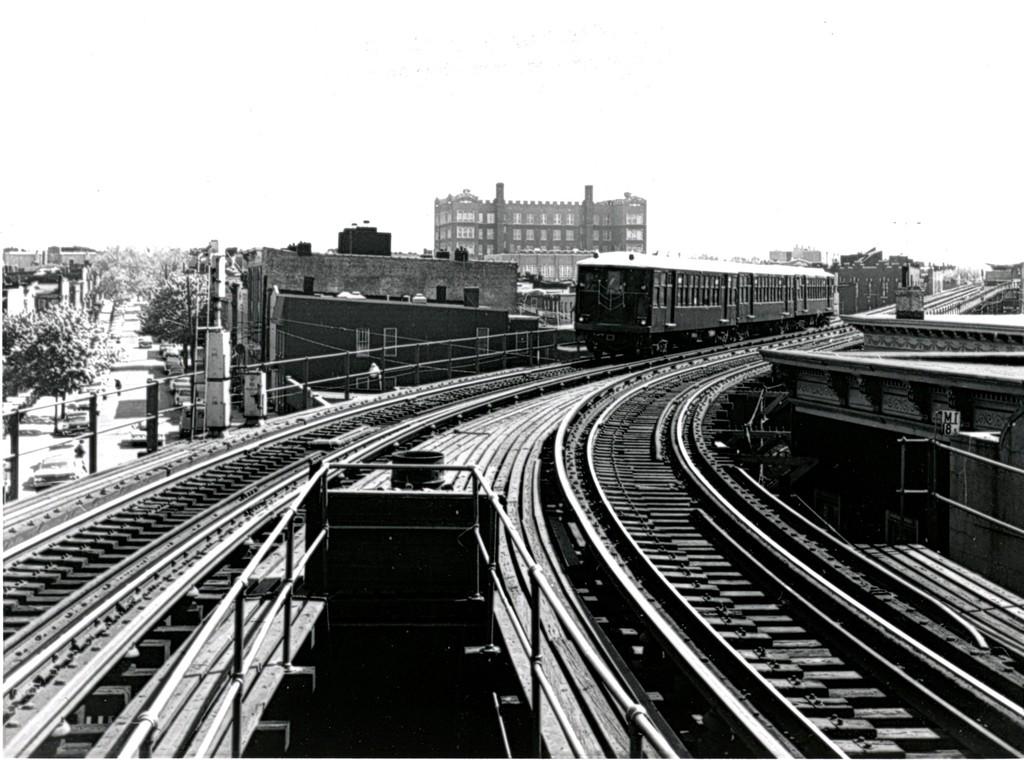 (192k, 1024x760)<br><b>Country:</b> United States<br><b>City:</b> New York<br><b>System:</b> New York City Transit<br><b>Line:</b> BMT Myrtle Avenue Line<br><b>Location:</b> Seneca Avenue <br><b>Car:</b> BMT Q 1607 <br><b>Collection of:</b> George Conrad Collection<br><b>Date:</b> 5/12/1962<br><b>Viewed (this week/total):</b> 1 / 1423