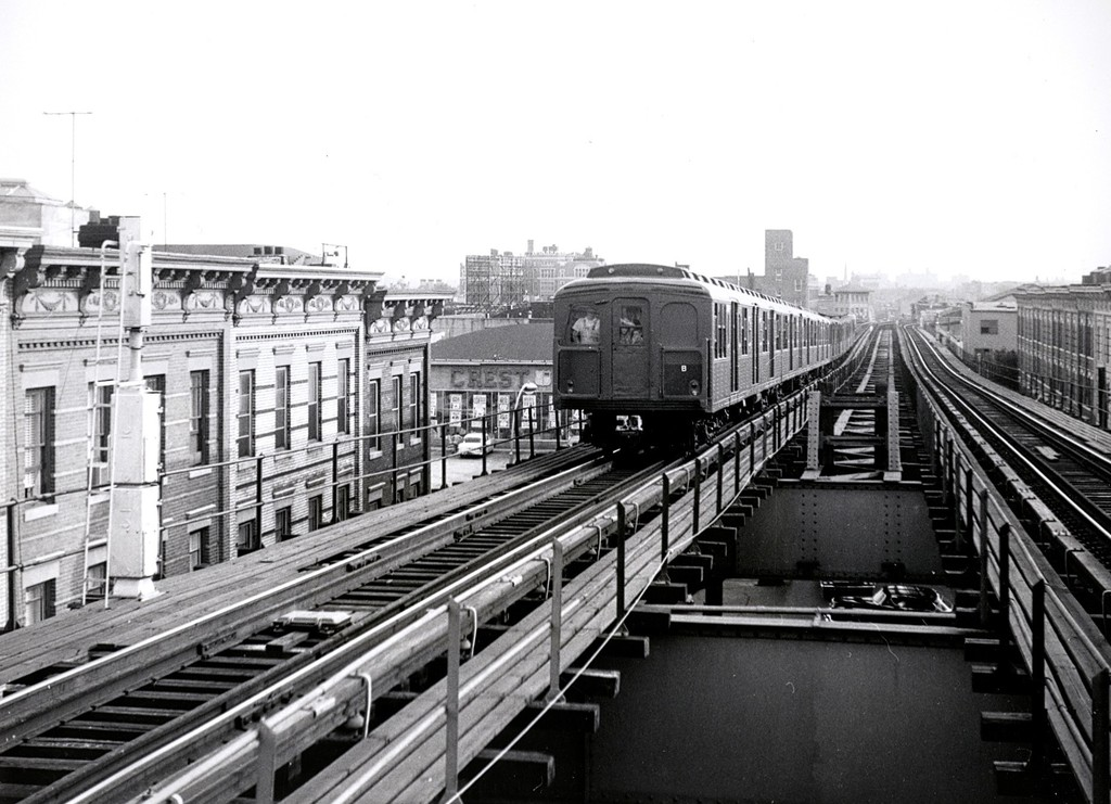 (195k, 1024x741)<br><b>Country:</b> United States<br><b>City:</b> New York<br><b>System:</b> New York City Transit<br><b>Line:</b> BMT Myrtle Avenue Line<br><b>Location:</b> Seneca Avenue <br><b>Car:</b> BMT A/B-Type Standard 2390/2391/2392 <br><b>Collection of:</b> George Conrad Collection<br><b>Date:</b> 7/26/1965<br><b>Viewed (this week/total):</b> 1 / 1793