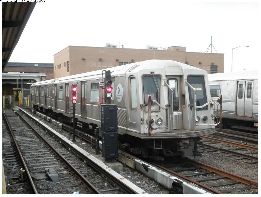 (210k, 1044x788)<br><b>Country:</b> United States<br><b>City:</b> New York<br><b>System:</b> New York City Transit<br><b>Location:</b> Rockaway Park Yard<br><b>Car:</b> R-40 (St. Louis, 1968)  4393 <br><b>Photo by:</b> Khalis Ward<br><b>Date:</b> 6/6/2010<br><b>Viewed (this week/total):</b> 1 / 1181