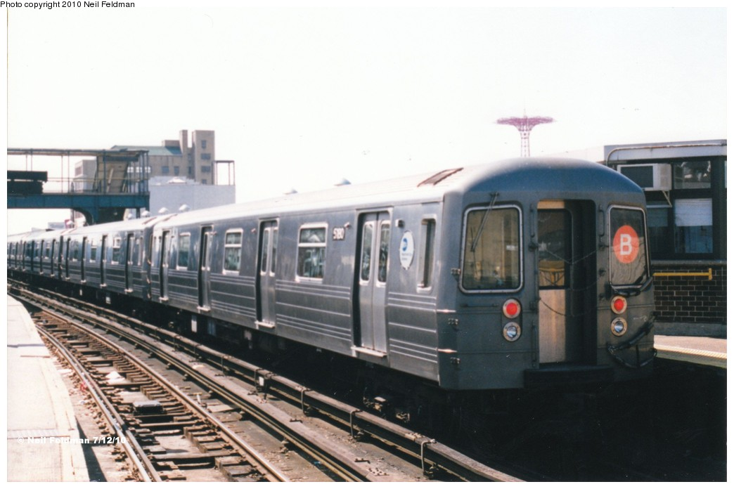 (140k, 1044x696)<br><b>Country:</b> United States<br><b>City:</b> New York<br><b>System:</b> New York City Transit<br><b>Location:</b> Coney Island/Stillwell Avenue<br><b>Route:</b> B<br><b>Car:</b> R-68A (Kawasaki, 1988-1989)  5180 <br><b>Photo by:</b> Neil Feldman<br><b>Date:</b> 1999<br><b>Viewed (this week/total):</b> 0 / 1136
