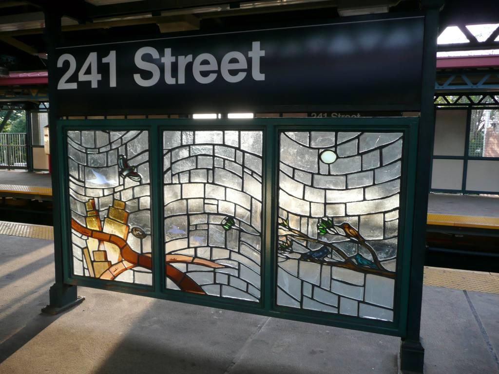 (115k, 1024x768)<br><b>Country:</b> United States<br><b>City:</b> New York<br><b>System:</b> New York City Transit<br><b>Line:</b> IRT White Plains Road Line<br><b>Location:</b> 241st Street <br><b>Photo by:</b> Robbie Rosenfeld<br><b>Date:</b> 7/22/2010<br><b>Artwork:</b> <i>Permanent Residents and Visitors</i>, Alfredo Ceibal (2006).<br><b>Viewed (this week/total):</b> 0 / 1861