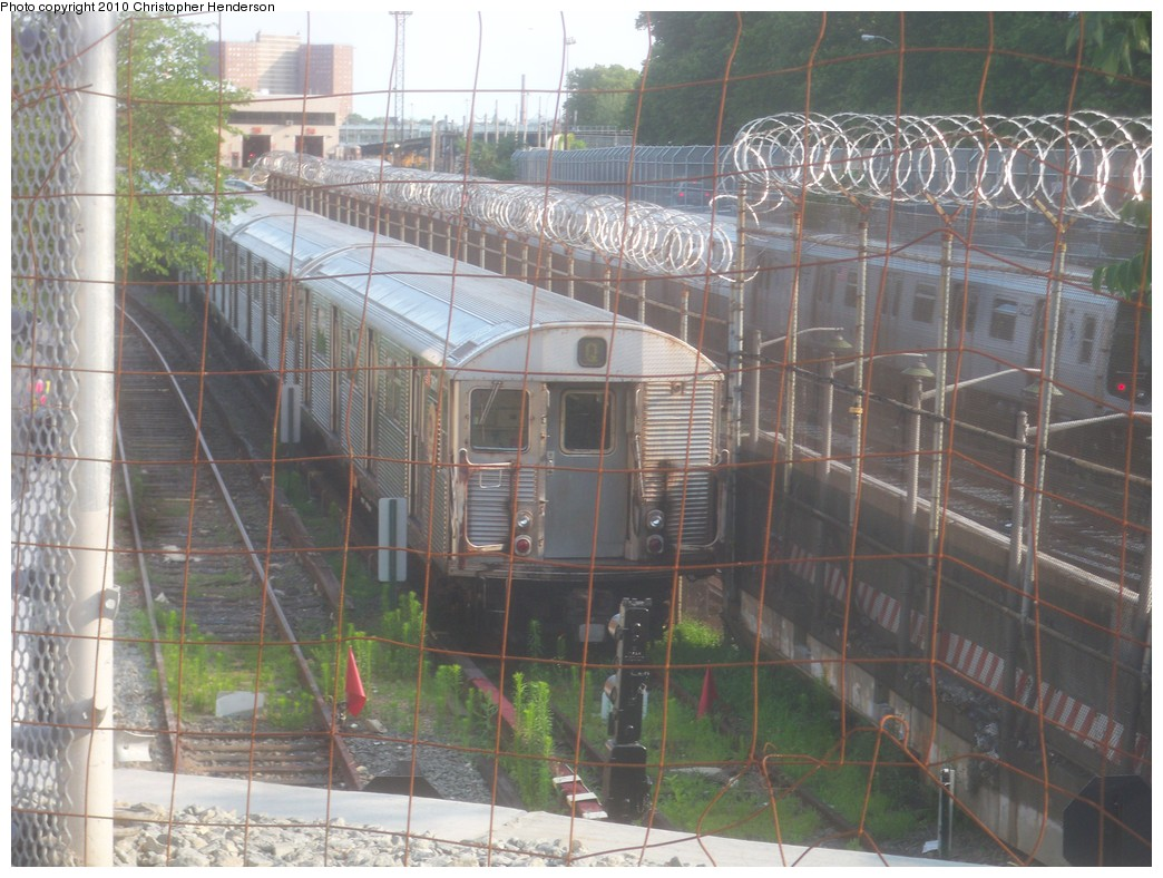(237k, 1044x788)<br><b>Country:</b> United States<br><b>City:</b> New York<br><b>System:</b> New York City Transit<br><b>Location:</b> Coney Island Yard<br><b>Car:</b> R-32 (Budd, 1964)  3727 <br><b>Photo by:</b> Christopher Henderson<br><b>Date:</b> 6/25/2010<br><b>Notes:</b> Heading to car wash and then transfer to 207th St. yard.<br><b>Viewed (this week/total):</b> 0 / 1512