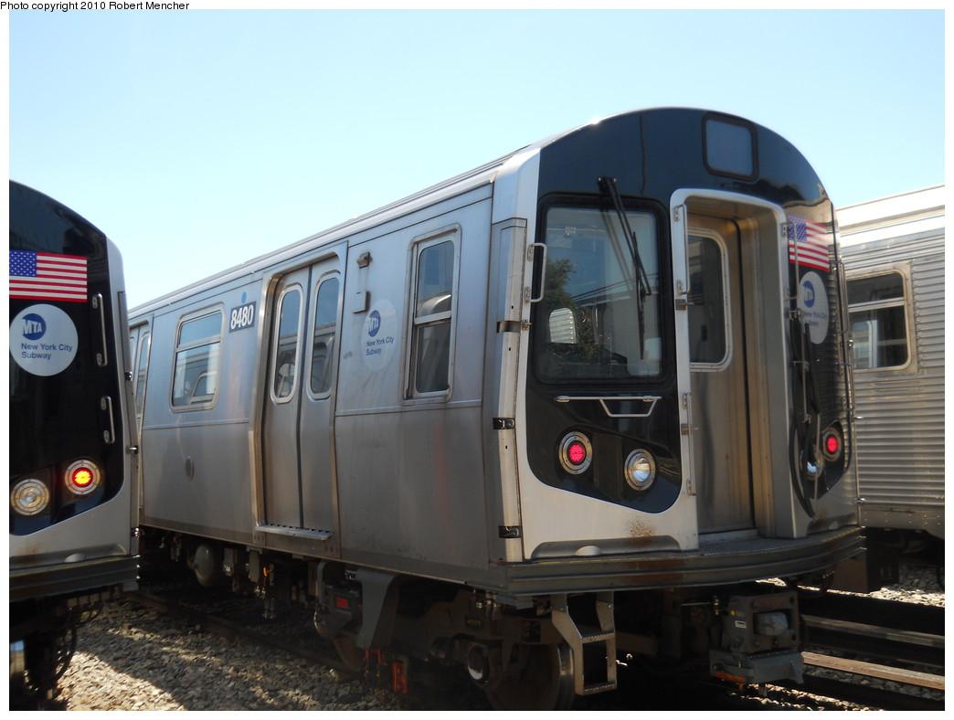 (226k, 1044x788)<br><b>Country:</b> United States<br><b>City:</b> New York<br><b>System:</b> New York City Transit<br><b>Location:</b> East New York Yard/Shops<br><b>Car:</b> R-160A-1 (Alstom, 2005-2008, 4 car sets)  8480 <br><b>Photo by:</b> Robert Mencher<br><b>Date:</b> 7/3/2010<br><b>Viewed (this week/total):</b> 0 / 503