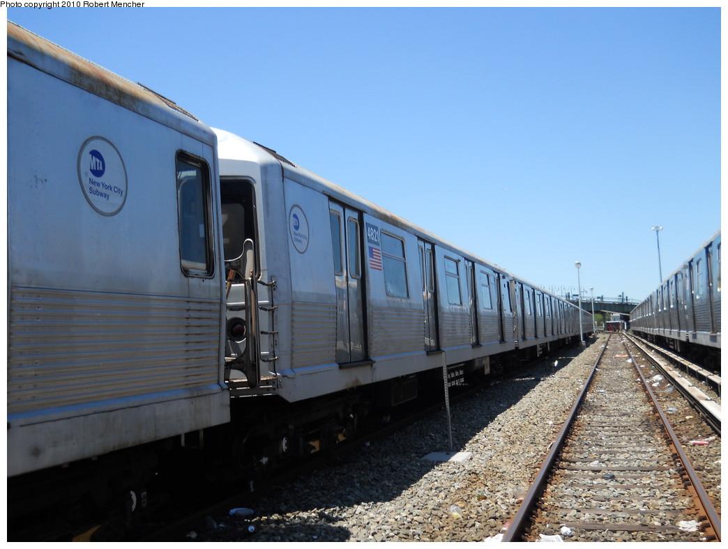(244k, 1044x788)<br><b>Country:</b> United States<br><b>City:</b> New York<br><b>System:</b> New York City Transit<br><b>Location:</b> East New York Yard/Shops<br><b>Car:</b> R-42 (St. Louis, 1969-1970)  4821 <br><b>Photo by:</b> Robert Mencher<br><b>Date:</b> 7/3/2010<br><b>Viewed (this week/total):</b> 4 / 520