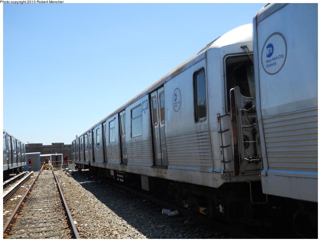 (230k, 1044x788)<br><b>Country:</b> United States<br><b>City:</b> New York<br><b>System:</b> New York City Transit<br><b>Location:</b> East New York Yard/Shops<br><b>Car:</b> R-42 (St. Louis, 1969-1970)  4807 <br><b>Photo by:</b> Robert Mencher<br><b>Date:</b> 7/3/2010<br><b>Viewed (this week/total):</b> 0 / 402