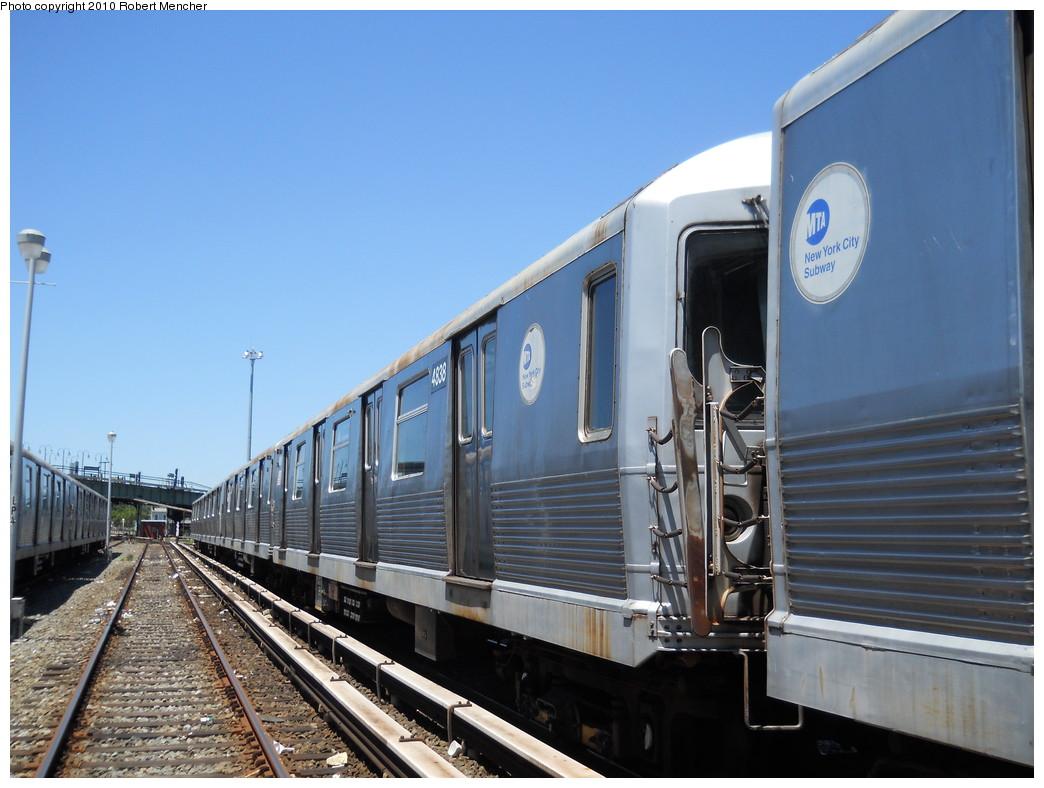 (251k, 1044x788)<br><b>Country:</b> United States<br><b>City:</b> New York<br><b>System:</b> New York City Transit<br><b>Location:</b> East New York Yard/Shops<br><b>Car:</b> R-42 (St. Louis, 1969-1970)  4838 <br><b>Photo by:</b> Robert Mencher<br><b>Date:</b> 7/3/2010<br><b>Viewed (this week/total):</b> 1 / 412