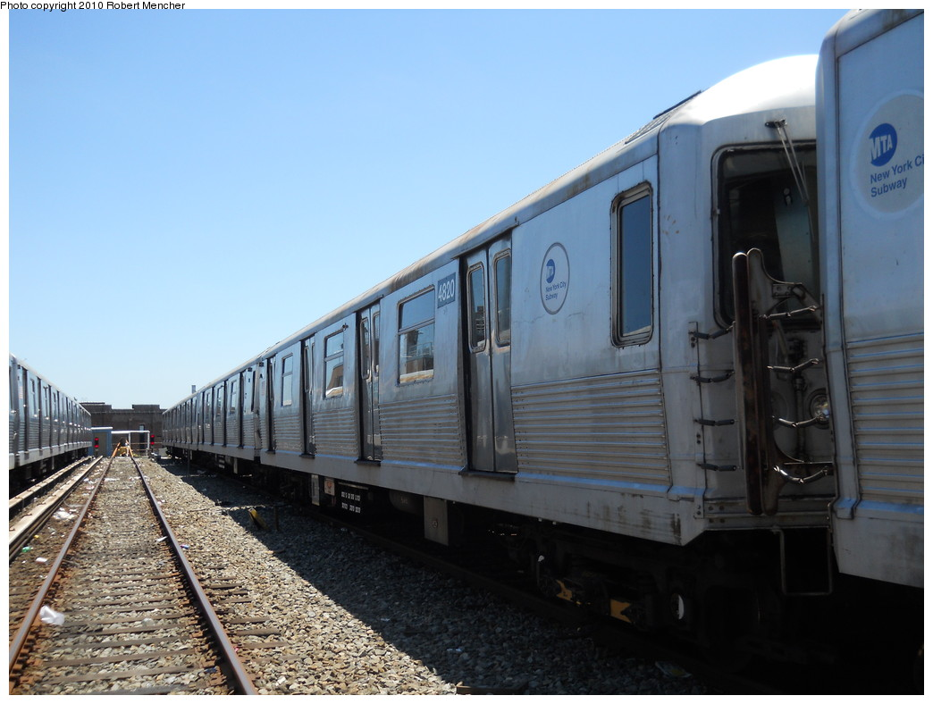 (239k, 1044x788)<br><b>Country:</b> United States<br><b>City:</b> New York<br><b>System:</b> New York City Transit<br><b>Location:</b> East New York Yard/Shops<br><b>Car:</b> R-42 (St. Louis, 1969-1970)  4820 <br><b>Photo by:</b> Robert Mencher<br><b>Date:</b> 7/3/2010<br><b>Viewed (this week/total):</b> 4 / 478