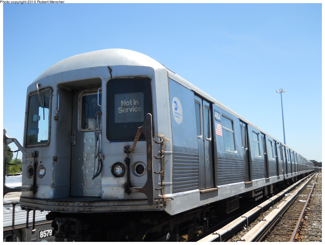 (233k, 1044x788)<br><b>Country:</b> United States<br><b>City:</b> New York<br><b>System:</b> New York City Transit<br><b>Location:</b> East New York Yard/Shops<br><b>Car:</b> R-42 (St. Louis, 1969-1970)  4804 <br><b>Photo by:</b> Robert Mencher<br><b>Date:</b> 7/3/2010<br><b>Viewed (this week/total):</b> 0 / 599
