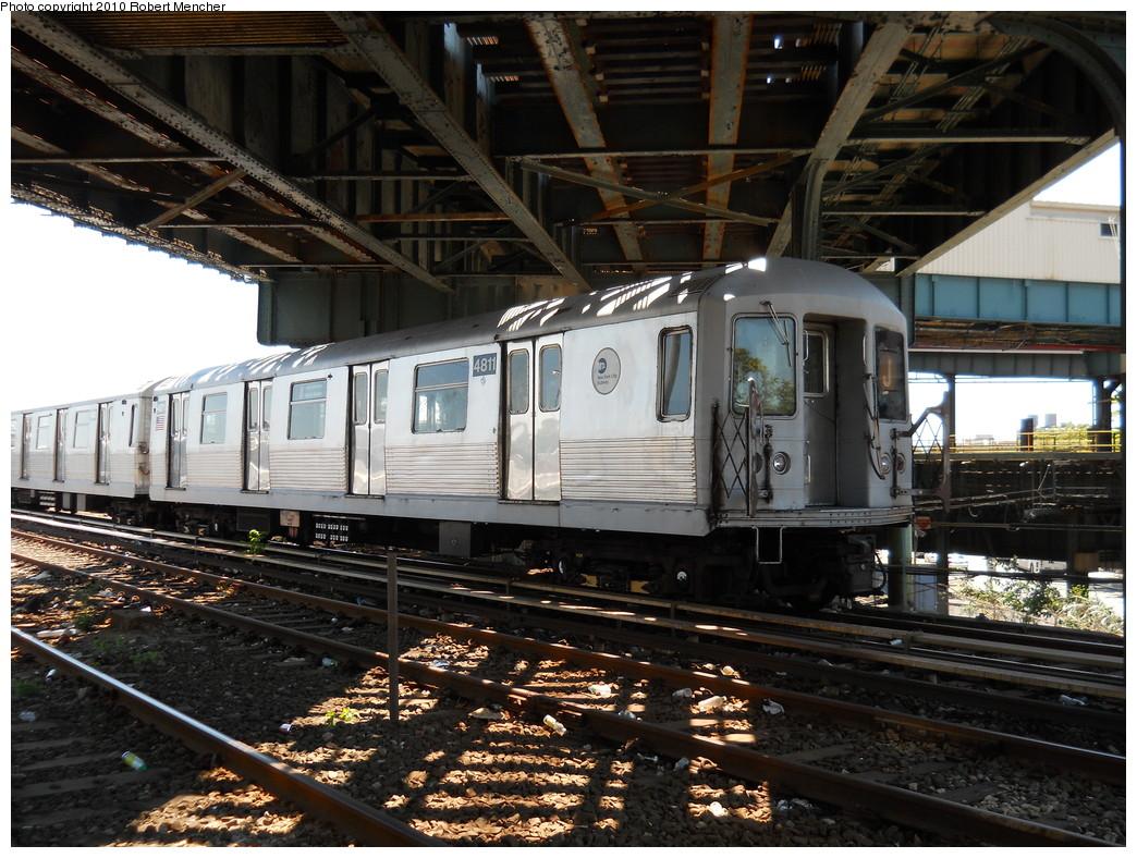 (320k, 1044x788)<br><b>Country:</b> United States<br><b>City:</b> New York<br><b>System:</b> New York City Transit<br><b>Location:</b> East New York Yard/Shops<br><b>Car:</b> R-42 (St. Louis, 1969-1970)  4811 <br><b>Photo by:</b> Robert Mencher<br><b>Date:</b> 7/3/2010<br><b>Viewed (this week/total):</b> 1 / 941