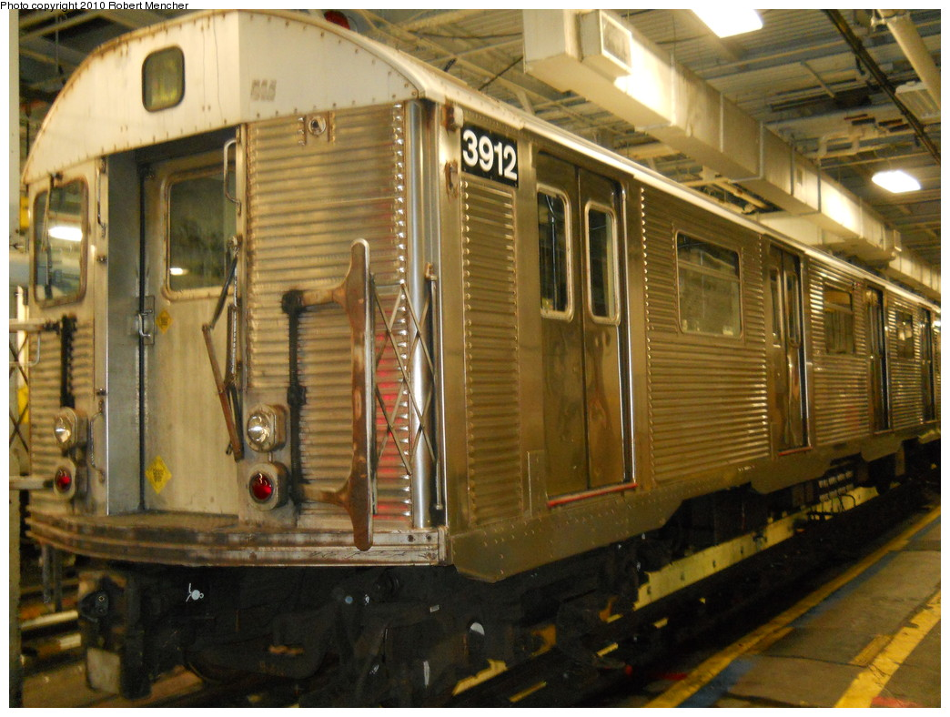 (294k, 1044x788)<br><b>Country:</b> United States<br><b>City:</b> New York<br><b>System:</b> New York City Transit<br><b>Location:</b> East New York Yard/Shops<br><b>Car:</b> R-32 (Budd, 1964)  3912 <br><b>Photo by:</b> Robert Mencher<br><b>Date:</b> 7/17/2010<br><b>Viewed (this week/total):</b> 0 / 892
