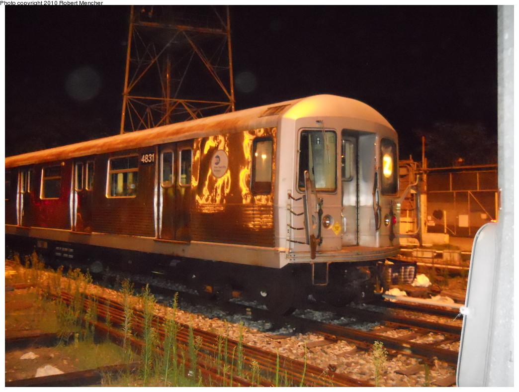 (271k, 1044x788)<br><b>Country:</b> United States<br><b>City:</b> New York<br><b>System:</b> New York City Transit<br><b>Location:</b> East New York Yard/Shops<br><b>Car:</b> R-42 (St. Louis, 1969-1970)  4831 <br><b>Photo by:</b> Robert Mencher<br><b>Date:</b> 7/17/2010<br><b>Viewed (this week/total):</b> 0 / 672