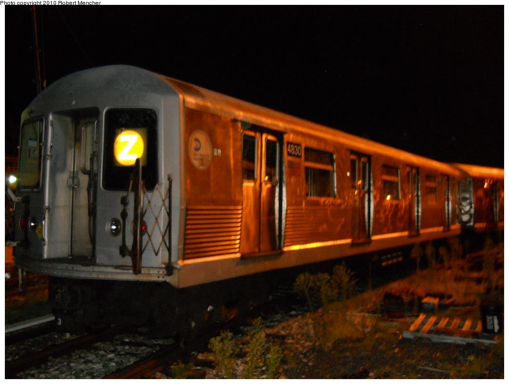 (229k, 1044x788)<br><b>Country:</b> United States<br><b>City:</b> New York<br><b>System:</b> New York City Transit<br><b>Location:</b> East New York Yard/Shops<br><b>Car:</b> R-42 (St. Louis, 1969-1970)  4830 <br><b>Photo by:</b> Robert Mencher<br><b>Date:</b> 7/17/2010<br><b>Viewed (this week/total):</b> 4 / 801