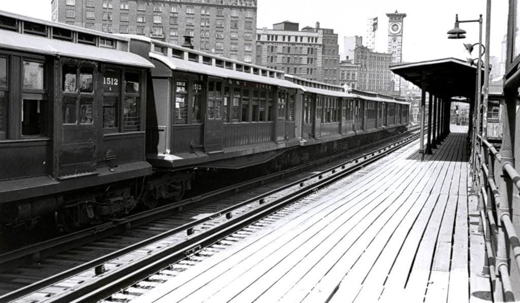 (162k, 1024x597)<br><b>Country:</b> United States<br><b>City:</b> New York<br><b>System:</b> New York City Transit<br><b>Line:</b> BMT Fulton<br><b>Location:</b> Cumberland Street <br><b>Car:</b> BMT C 1512 <br><b>Collection of:</b> George Conrad Collection<br><b>Viewed (this week/total):</b> 1 / 1583