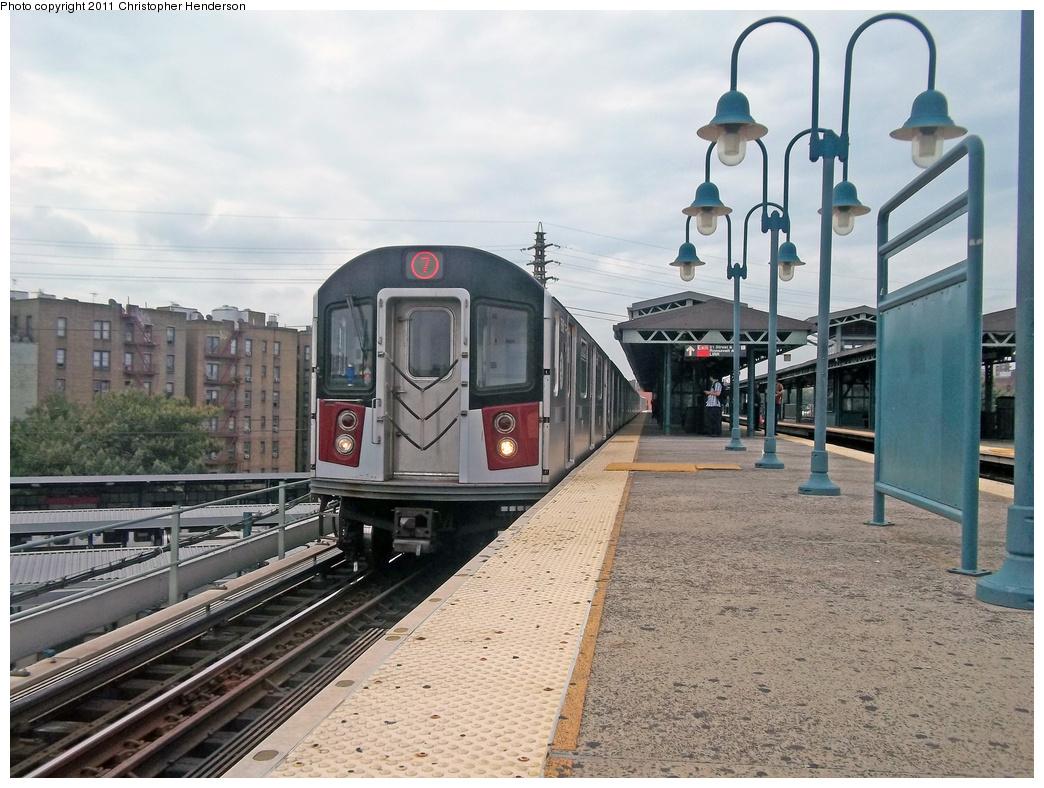 (401k, 1044x788)<br><b>Country:</b> United States<br><b>City:</b> New York<br><b>System:</b> New York City Transit<br><b>Line:</b> IRT Flushing Line<br><b>Location:</b> 61st Street/Woodside <br><b>Route:</b> 7 testing<br><b>Car:</b> R-142A (Primary Order, Kawasaki, 1999-2002)  7510 <br><b>Photo by:</b> Christopher Henderson<br><b>Date:</b> 9/21/2011<br><b>Viewed (this week/total):</b> 5 / 1672