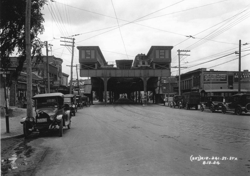 (144k, 1024x722)<br><b>Country:</b> United States<br><b>City:</b> New York<br><b>System:</b> New York City Transit<br><b>Line:</b> IRT White Plains Road Line<br><b>Location:</b> 241st Street <br><b>Collection of:</b> J. McDonald Vanderbilt<br><b>Date:</b> 8/13/1924<br><b>Viewed (this week/total):</b> 1 / 2802
