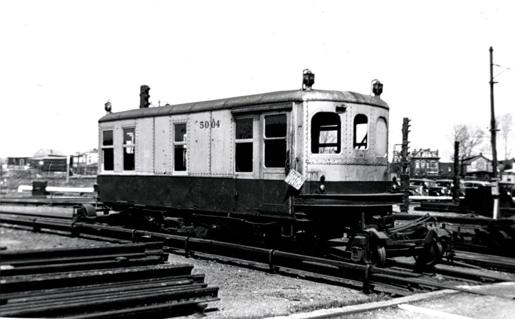 (126k, 1024x634)<br><b>Country:</b> United States<br><b>City:</b> New York<br><b>System:</b> New York City Transit<br><b>Location:</b> Coney Island Yard<br><b>Car:</b> Birney Rail Grinder  5004 <br><b>Collection of:</b> George Conrad Collection<br><b>Viewed (this week/total):</b> 9 / 1306