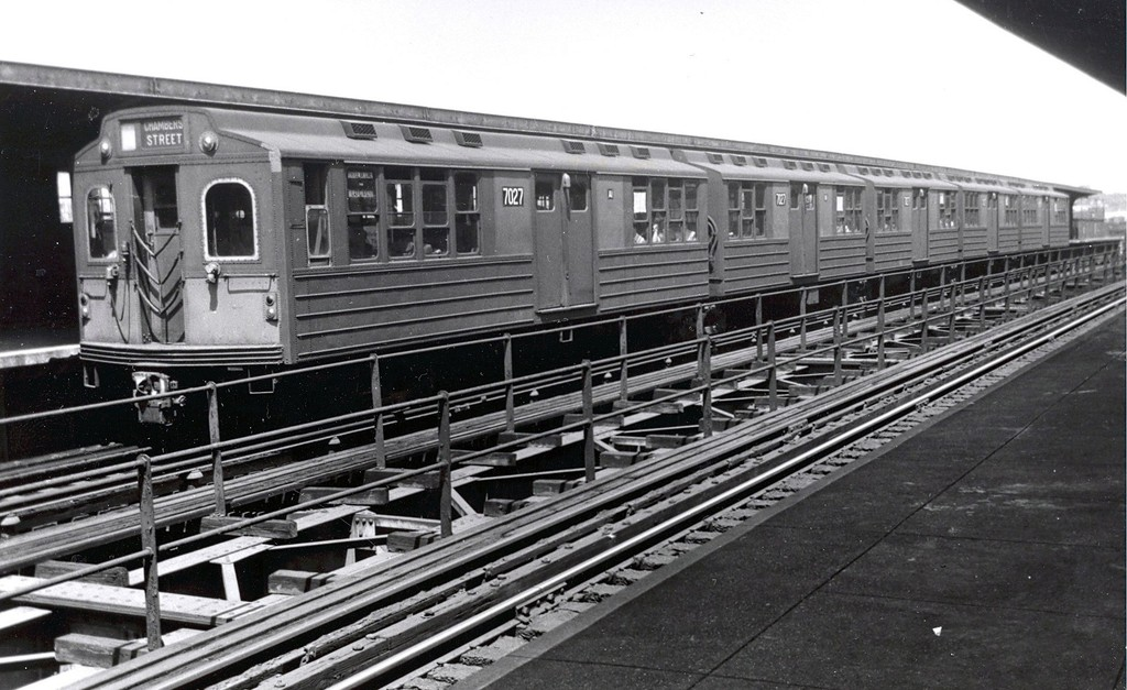 (190k, 1024x627)<br><b>Country:</b> United States<br><b>City:</b> New York<br><b>System:</b> New York City Transit<br><b>Line:</b> BMT Myrtle Avenue Line<br><b>Location:</b> Central Avenue <br><b>Car:</b> BMT Multi 7027 <br><b>Collection of:</b> George Conrad Collection<br><b>Viewed (this week/total):</b> 0 / 1313