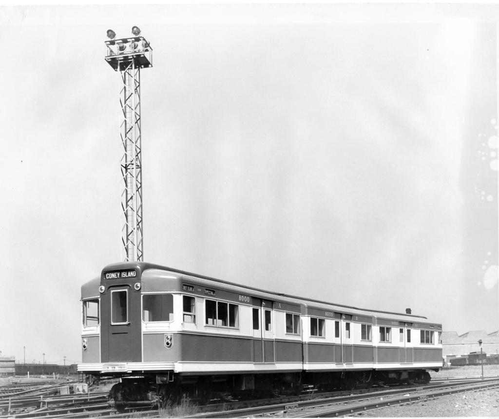 (171k, 1024x859)<br><b>Country:</b> United States<br><b>City:</b> New York<br><b>System:</b> New York City Transit<br><b>Location:</b> Coney Island Yard<br><b>Car:</b> BMT Bluebird 8000 <br><b>Collection of:</b> George Conrad Collection<br><b>Date:</b> 1939<br><b>Viewed (this week/total):</b> 8 / 2928