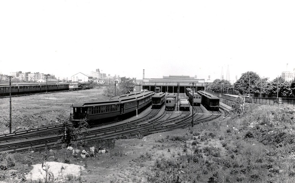 (171k, 1024x637)<br><b>Country:</b> United States<br><b>City:</b> New York<br><b>System:</b> New York City Transit<br><b>Location:</b> 36th Street Yard<br><b>Collection of:</b> George Conrad Collection<br><b>Date:</b> 5/30/1940<br><b>Viewed (this week/total):</b> 0 / 1211