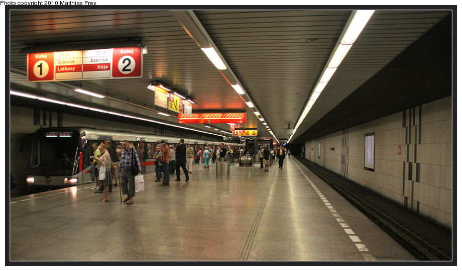 (173k, 920x539)<br><b>Country:</b> Czech Republic<br><b>City:</b> Prague<br><b>System:</b> Dopravni podnik Prahy <br><b>Line:</b> Prague Metro-C<br><b>Location:</b> Florenc (formerly Sokolovská) <br><b>Photo by:</b> Matthias Frey<br><b>Date:</b> 8/10/2010<br><b>Viewed (this week/total):</b> 0 / 436