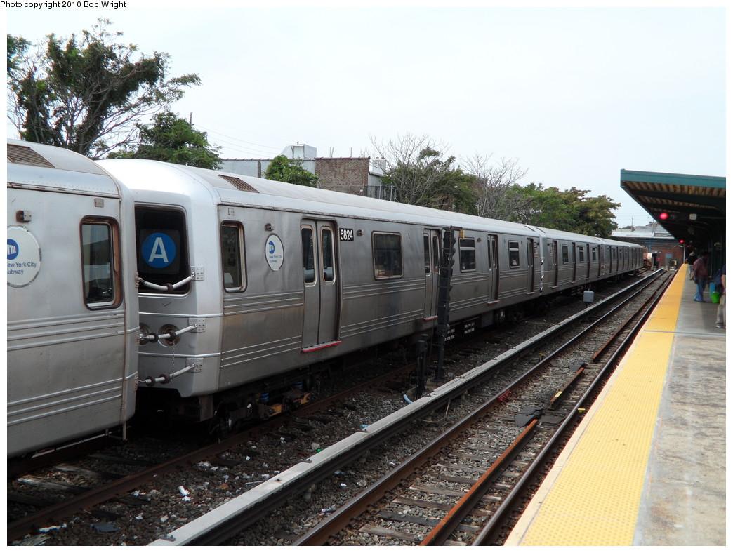 (249k, 1044x788)<br><b>Country:</b> United States<br><b>City:</b> New York<br><b>System:</b> New York City Transit<br><b>Location:</b> Rockaway Park Yard<br><b>Car:</b> R-46 (Pullman-Standard, 1974-75) 5824 <br><b>Photo by:</b> Bob Wright<br><b>Date:</b> 8/21/2010<br><b>Viewed (this week/total):</b> 0 / 1072