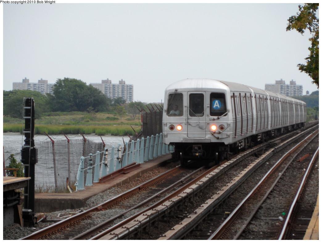 (207k, 1044x788)<br><b>Country:</b> United States<br><b>City:</b> New York<br><b>System:</b> New York City Transit<br><b>Line:</b> IND Rockaway<br><b>Location:</b> Broad Channel <br><b>Route:</b> A<br><b>Car:</b> R-46 (Pullman-Standard, 1974-75)  <br><b>Photo by:</b> Bob Wright<br><b>Date:</b> 8/21/2010<br><b>Viewed (this week/total):</b> 6 / 1263