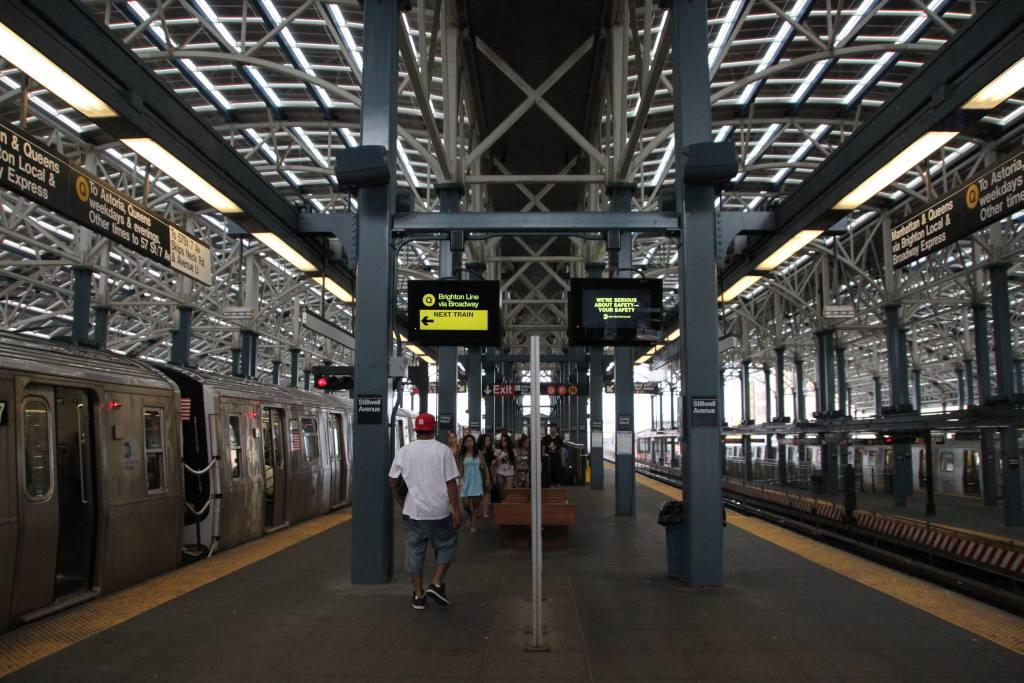 (143k, 1024x683)<br><b>Country:</b> United States<br><b>City:</b> New York<br><b>System:</b> New York City Transit<br><b>Location:</b> Coney Island/Stillwell Avenue<br><b>Photo by:</b> Robbie Rosenfeld<br><b>Date:</b> 7/12/2010<br><b>Notes:</b> New departure monitors<br><b>Viewed (this week/total):</b> 0 / 1940
