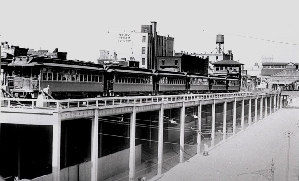 (136k, 1024x619)<br><b>Country:</b> United States<br><b>City:</b> New York<br><b>System:</b> New York City Transit<br><b>Line:</b> BMT Fulton<br><b>Location:</b> Sands Street <br><b>Car:</b> BMT Elevated Gate Car  <br><b>Collection of:</b> George Conrad Collection<br><b>Notes:</b> Sands St. storage tracks<br><b>Viewed (this week/total):</b> 2 / 2410