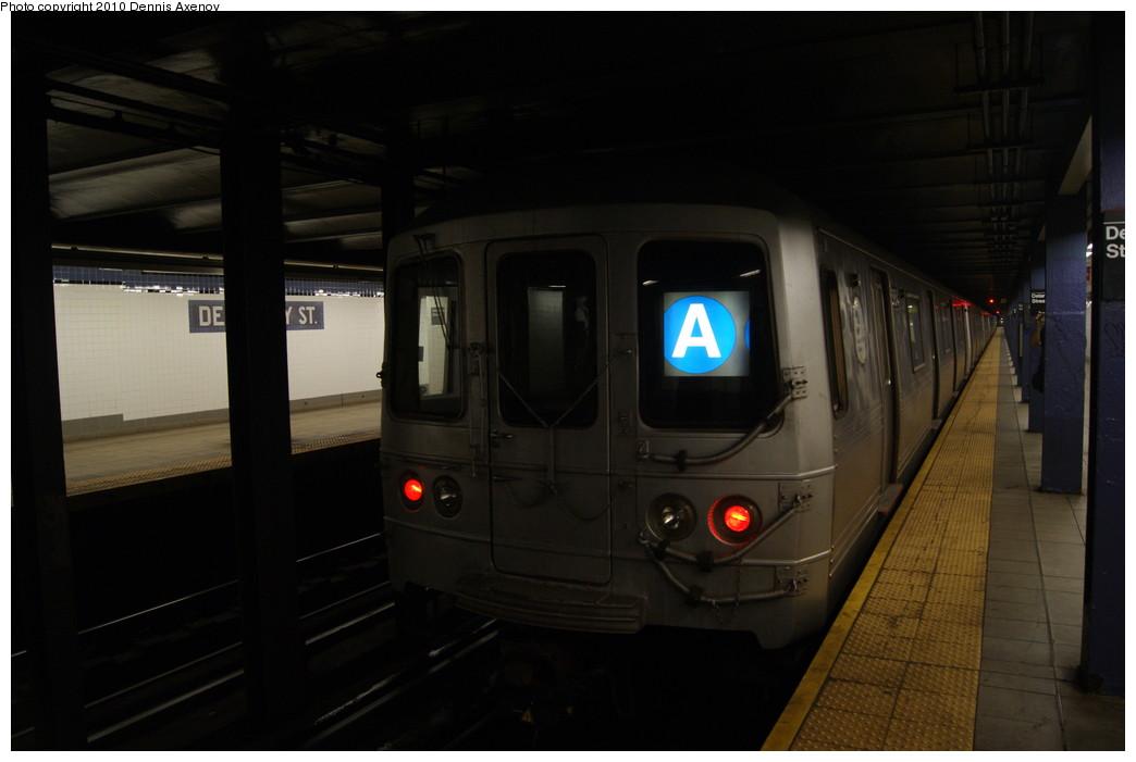 (169k, 1044x701)<br><b>Country:</b> United States<br><b>City:</b> New York<br><b>System:</b> New York City Transit<br><b>Line:</b> IND 6th Avenue Line<br><b>Location:</b> Delancey Street <br><b>Route:</b> A reroute<br><b>Car:</b> R-46 (Pullman-Standard, 1974-75)  <br><b>Photo by:</b> Dennis Axenov<br><b>Date:</b> 7/18/2010<br><b>Viewed (this week/total):</b> 2 / 1551