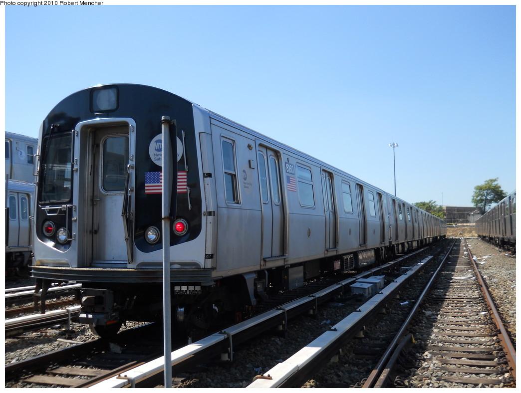 (250k, 1044x788)<br><b>Country:</b> United States<br><b>City:</b> New York<br><b>System:</b> New York City Transit<br><b>Location:</b> East New York Yard/Shops<br><b>Car:</b> R-143 (Kawasaki, 2001-2002) 8160 <br><b>Photo by:</b> Robert Mencher<br><b>Date:</b> 8/30/2010<br><b>Viewed (this week/total):</b> 3 / 683