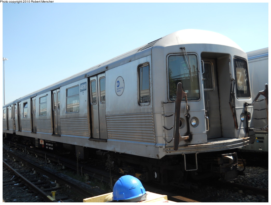 (218k, 1044x788)<br><b>Country:</b> United States<br><b>City:</b> New York<br><b>System:</b> New York City Transit<br><b>Location:</b> East New York Yard/Shops<br><b>Car:</b> R-42 (St. Louis, 1969-1970)  4816 <br><b>Photo by:</b> Robert Mencher<br><b>Date:</b> 8/30/2010<br><b>Viewed (this week/total):</b> 0 / 639