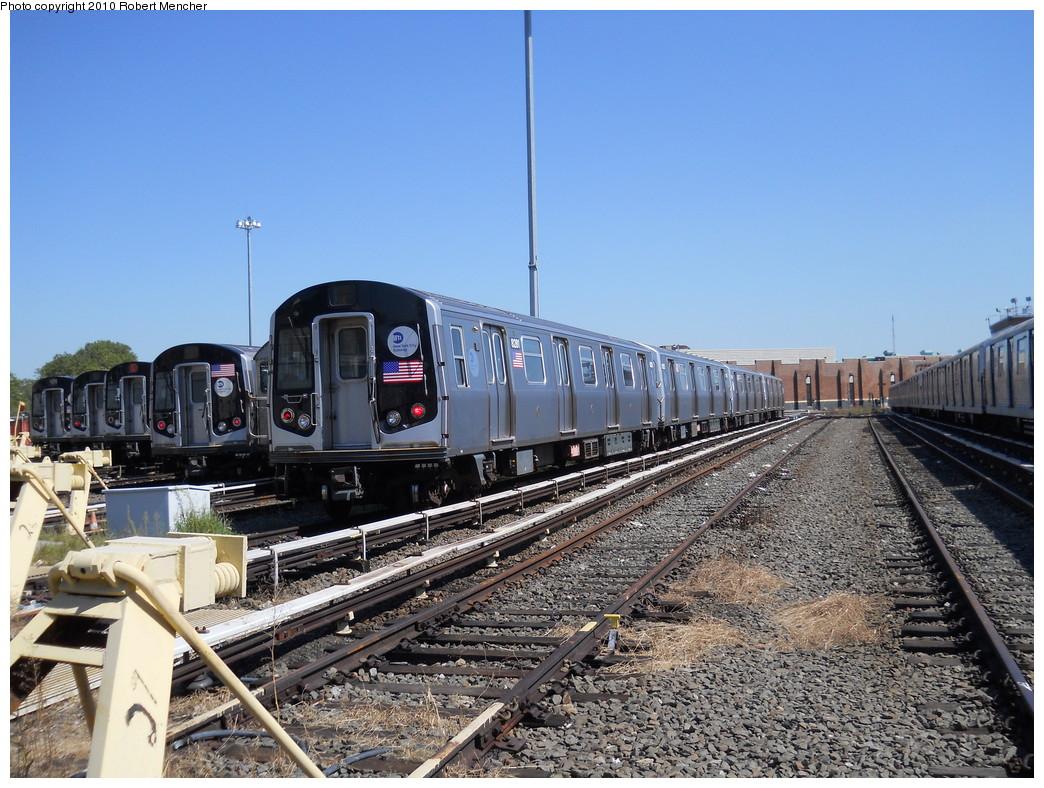 (315k, 1044x788)<br><b>Country:</b> United States<br><b>City:</b> New York<br><b>System:</b> New York City Transit<br><b>Location:</b> East New York Yard/Shops<br><b>Car:</b> R-143 (Kawasaki, 2001-2002) 8281 <br><b>Photo by:</b> Robert Mencher<br><b>Date:</b> 8/30/2010<br><b>Viewed (this week/total):</b> 0 / 854