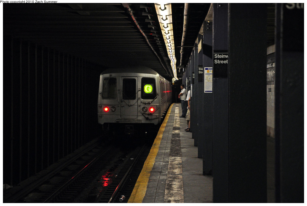 (175k, 1044x700)<br><b>Country:</b> United States<br><b>City:</b> New York<br><b>System:</b> New York City Transit<br><b>Line:</b> IND Queens Boulevard Line<br><b>Location:</b> Steinway Street <br><b>Route:</b> G Yard Move<br><b>Car:</b> R-46 (Pullman-Standard, 1974-75) 5548 <br><b>Photo by:</b> Zach Summer<br><b>Date:</b> 6/28/2010<br><b>Viewed (this week/total):</b> 5 / 1568
