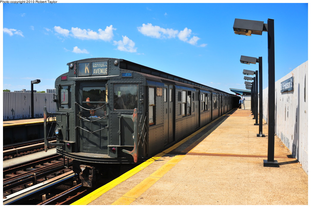 (274k, 1044x701)<br><b>Country:</b> United States<br><b>City:</b> New York<br><b>System:</b> New York City Transit<br><b>Line:</b> IND Fulton Street Line<br><b>Location:</b> 80th Street/Hudson Street <br><b>Route:</b> Fan Trip<br><b>Car:</b> R-6-1 (Pressed Steel, 1936)  1300 <br><b>Photo by:</b> Robert Taylor<br><b>Date:</b> 7/31/2010<br><b>Viewed (this week/total):</b> 2 / 3260