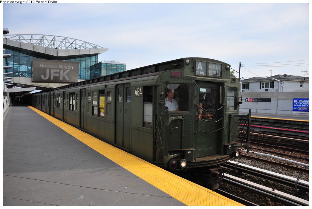 (244k, 1044x701)<br><b>Country:</b> United States<br><b>City:</b> New York<br><b>System:</b> New York City Transit<br><b>Line:</b> IND Rockaway Line<br><b>Location:</b> Howard Beach/JFK Airport<br><b>Route:</b> Fan Trip<br><b>Car:</b> R-4 (American Car & Foundry, 1932-1933) 484 <br><b>Photo by:</b> Robert Taylor<br><b>Date:</b> 8/21/2010<br><b>Viewed (this week/total):</b> 1 / 2968