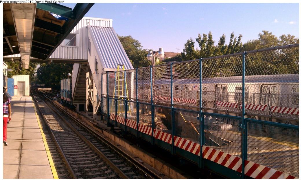 (239k, 1044x632)<br><b>Country:</b> United States<br><b>City:</b> New York<br><b>System:</b> New York City Transit<br><b>Line:</b> BMT Brighton Line<br><b>Location:</b> Avenue J <br><b>Photo by:</b> David-Paul Gerber<br><b>Date:</b> 9/14/2010<br><b>Notes:</b> Temporary platform over southbound express track.<br><b>Viewed (this week/total):</b> 0 / 1313